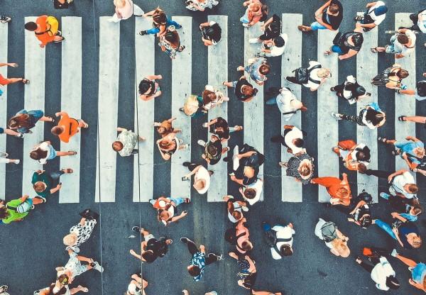 Busy public street